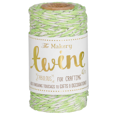 Twine: Lime & Silver