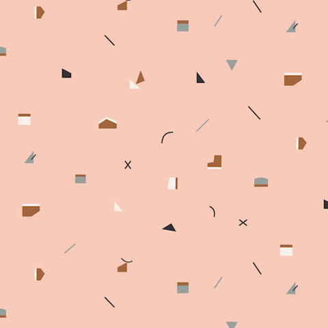 New Horizons, Pink. Fabric by Dashwood
