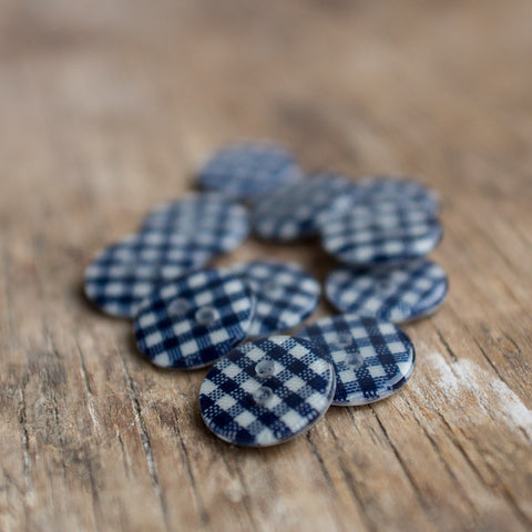 Button: Navy Gingham REDUCED!