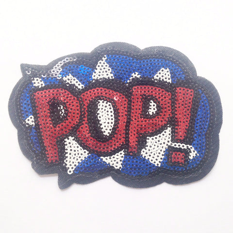 Iron-on Patch: Sequin 'POP!'