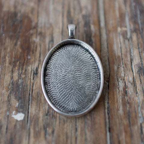 Pendant Finding: Small Silver Oval