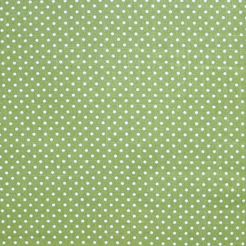 Heavyweight Polka Dot Cotton - Green