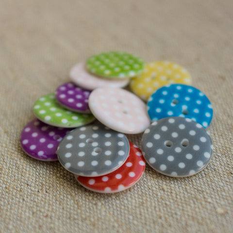 Button: Polka Dot (Various colours)