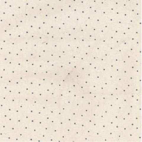 Stars Fabric: Grey on Cream