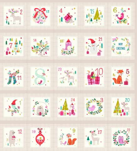 Make Your Own Advent Calendar Fabric / Kit