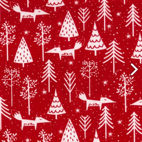 Christmas Fabric: Festive Foxes