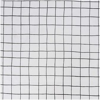 Black & White Grid Fabric (PVC Coated)