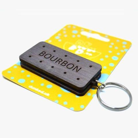 Bourbon Biscuit Keyring by Dunked