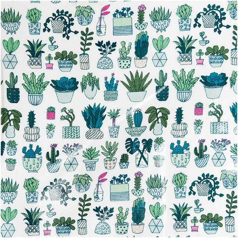 Cactus Plant Fabric (PVC Coated)