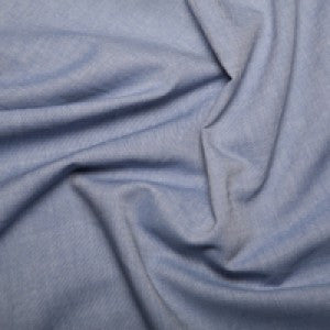 Blue Chambray Cotton Fabric