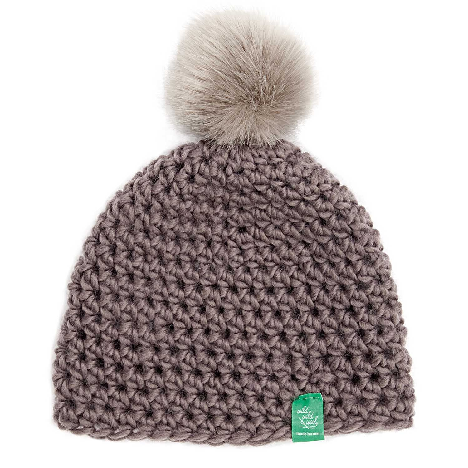 Crochet Pom Pom Hat Kit The Makery