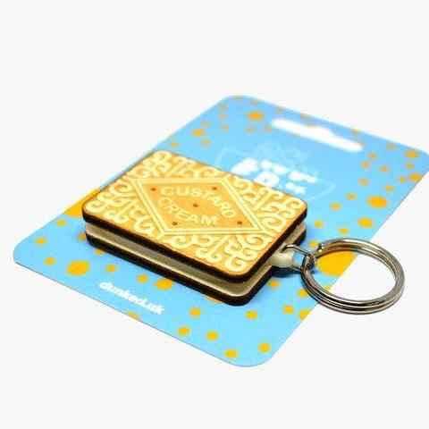 Custard Cream Keyring by Dunked