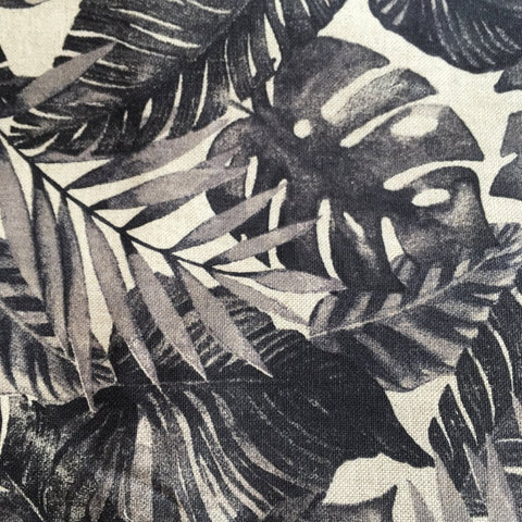 botanical palm leaf fabric
