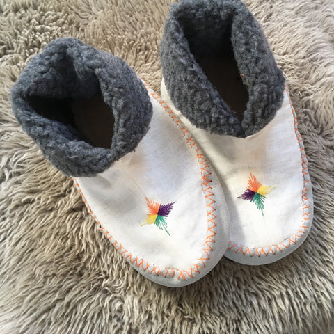 **SALE** Leather Moccasin Slipper Soles