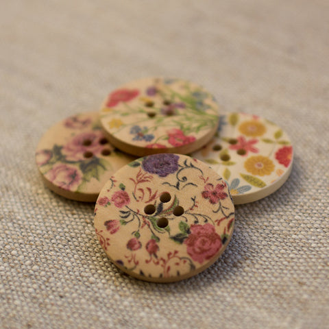 Large Wooden Buttons: Pinks (Various designs) REDUCED