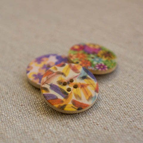 Large Wooden Buttons: Brights (Various designs) REDUCED