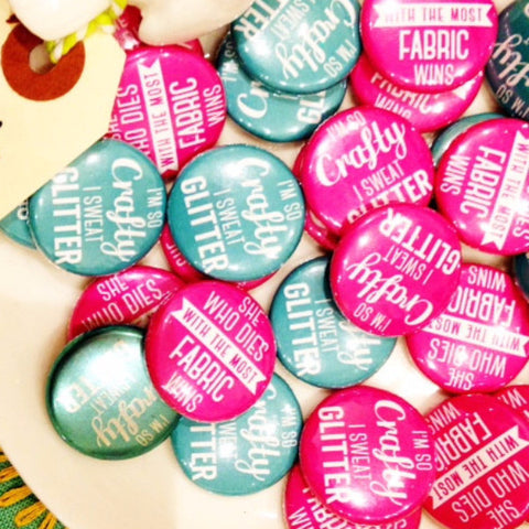 Mini Craft Badges: Crafty Quotes