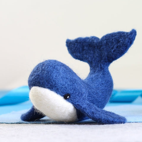 Whale Needle Felting Kit