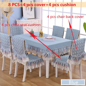 Delicate Double Lace Edge Table Cloth for Wedding Dinning Table & Chairs - Wulee CHef - WuLee Chef