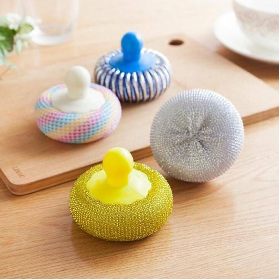 1PC Cleaning Brush Not To Hurt Pot Clean Ball Kitchen Cleaning Tools With Handle For Container Detergent Dish Bowl Cleaning