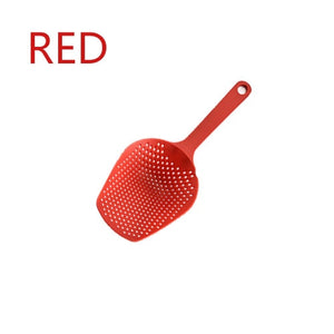 Vegetable Strainer Cooking Shovels Vegetable French Fries Strainer Scoop Nylon Spoon Large Colander Soup Filter Kitchen Tools