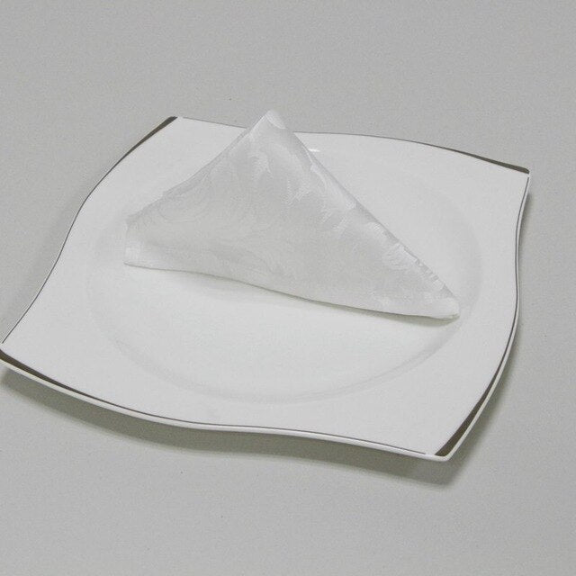 4 Pieces Per Set Table Napkin Polyester Handkerchief Cloth for Dinner Party - Wulee Chef - WuLee Chef