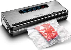 220V 110W Vacuum Sealing Machine Home Best Vacuum Sealer Fresh Packaging Machine Food Saver Vacuum Packer Include 5Pcs Bags Free