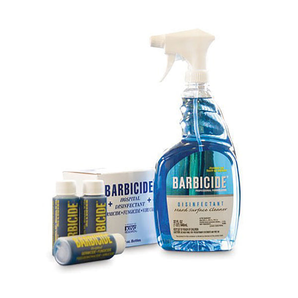 Barbicide Surface Spray Plus 6 x 60ml Concentrate Disinfectant Bullets