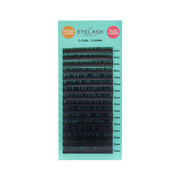 Natural Lashes - C-Curl Mixed Length Tray 0.25mm