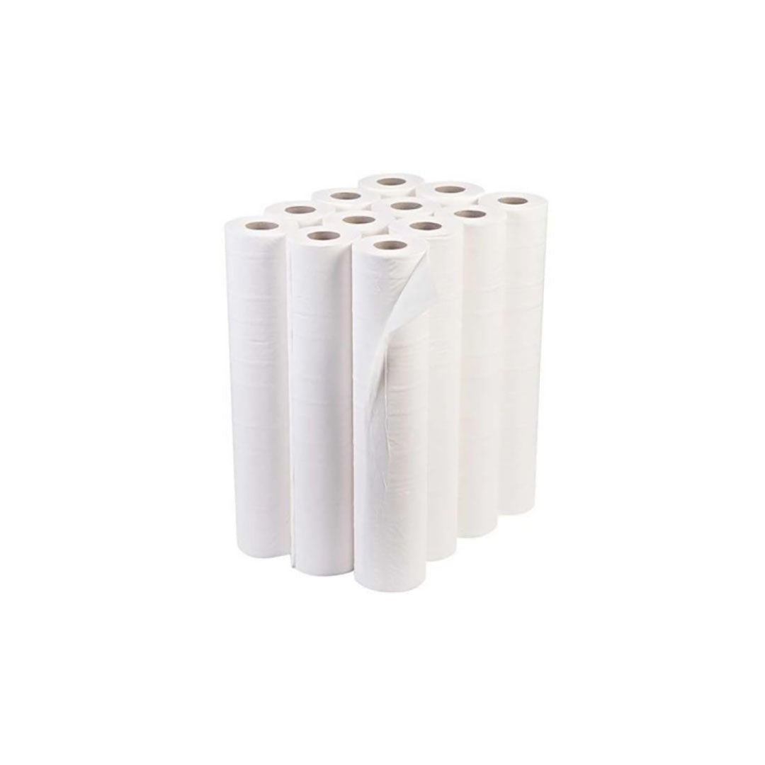 "White Hygiene Couch Roll 20"", Pack of 12 rolls"