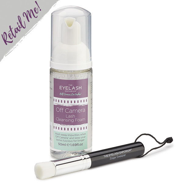 Lash Cleansing Foam and Stage Sweeper