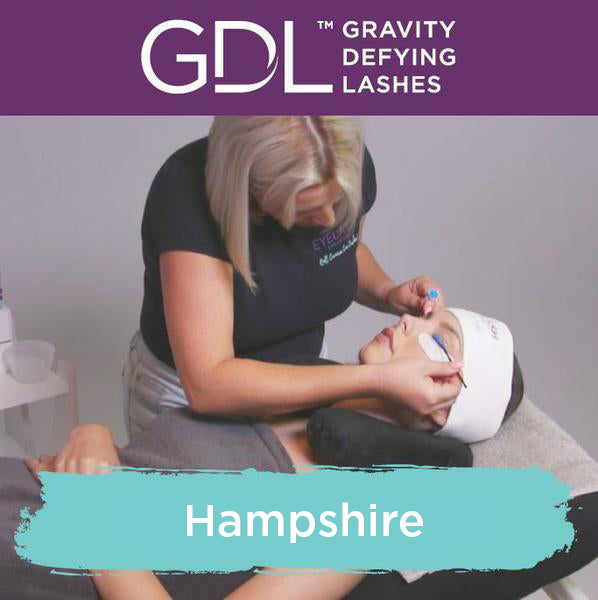 Gravity Defying Lashes Training in Hampshire
