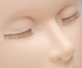 Training lashes on mannequin