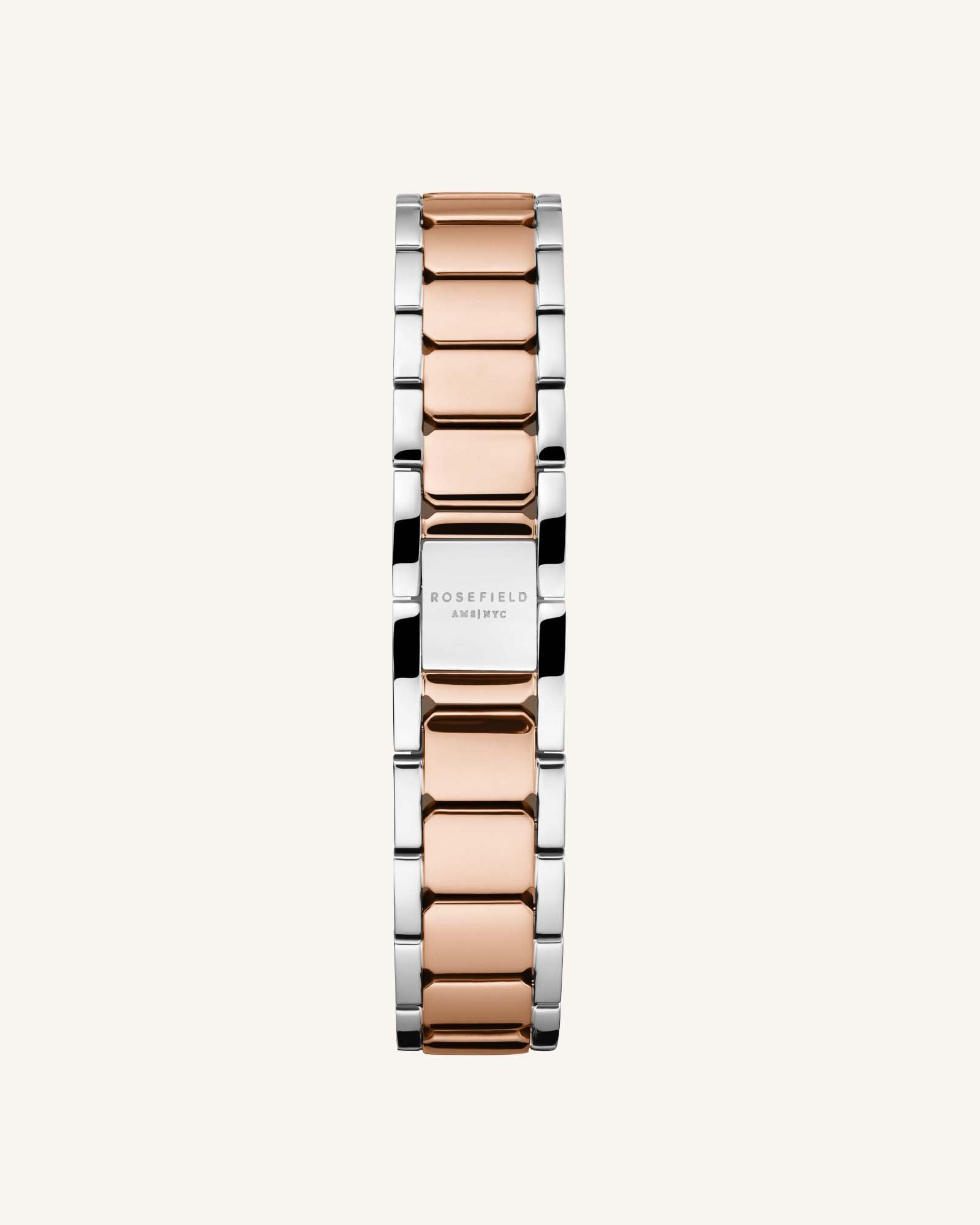 The Tribeca White Sunray Steel Silver Rose Gold Duo