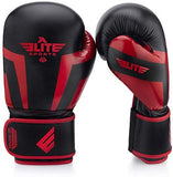 Elite Sports Boxing Gloves, Kickboxing, Adult & Kids Muay Thai Gel Sparring Training Gloves