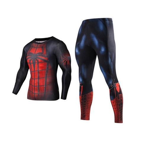 Captain America Spiderman Men's Long Sleeve Rashguard