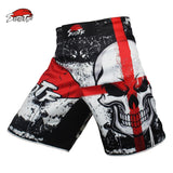 MMA Boxing Skull Motion Loose Training Shorts - Cotton
