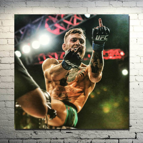 "Silk Poster 13x13"" Conor McGregor - Irish MMA UFC Champion Art Decor"