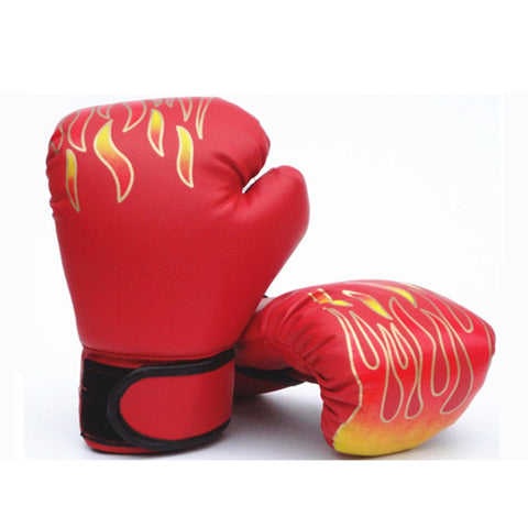 3-12 Yrs Children's Boxing Gloves MMA Karate UFC Equipment Flame Boxing Set