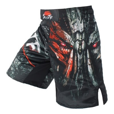Ferocious Black Mechanical Characters Exercise Shorts