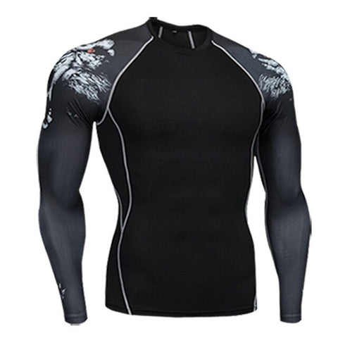 Men's Quick-drying MMA Compression Long Sleeve Rashguard