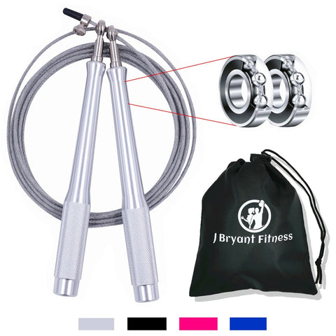 High Speed Jump Rope 9.8 ft Adjustable with Carrying Bag