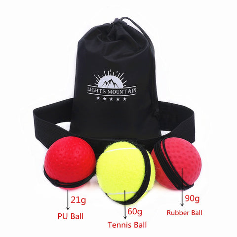 Boxing Reflex Speed Ball with Headband