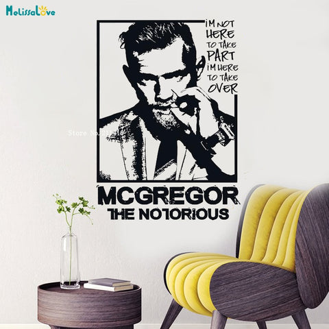 Conor McGregor Quote Sticker Decal Home Interior Decor Waterproof Mural YT1198