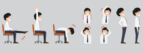 Office stretching exercises Infographic
