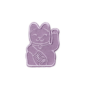 Waving Cat Embroidered Mini Patch