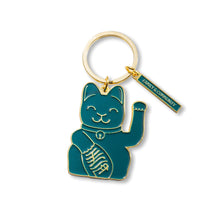 Laden Sie das Bild in den Galerie-Viewer, MANEKINEKO Keyring | Green
