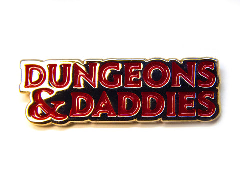 Dungeons and Daddies Logo Pin