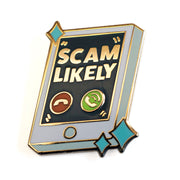 """Scam Likely"" Pin"