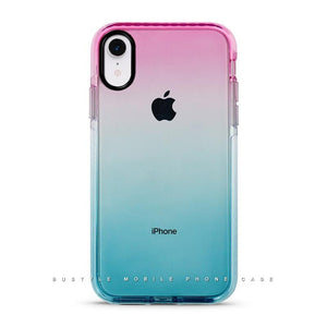 Pink & Blue Gradient Bustyle See-Through iPhone Case